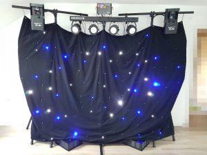 LED bestückte Vorhang